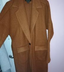 Barna megkötős vékony kabát