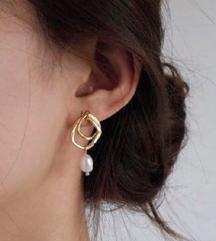 Aranyozott kézműves fülbevaló
