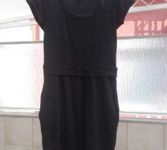 Fekete zsebes pólóruha