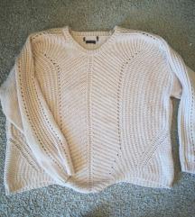 halvány rózsaszín kötött pulóver