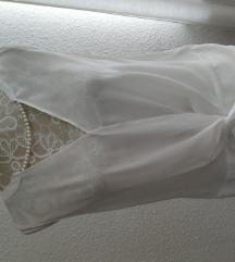 Orsay elegáns fehér blúz tekla gyöngy nyaklánccal