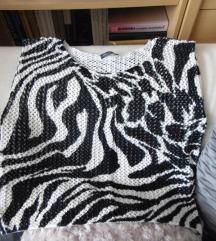 zebra mintás kötött top