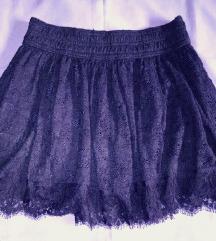 Abercrombie kék csipke szoknya
