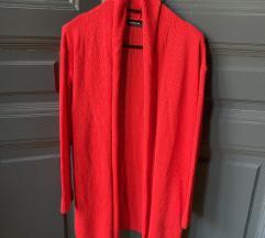 Reserved piros kötött kardigán pulcsi új