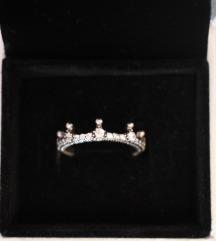 Pandora bűbájos korona gyűrű (pk az árban)