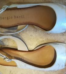 Női szandál, Sergio Bardi, új, fehér-arany