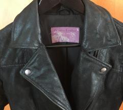 Valódi bőr fekete biker dzseki S M