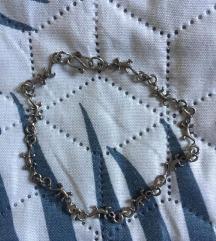 Jelzett ezüst gekkós/ gyíkos karkötő és fülbevaló