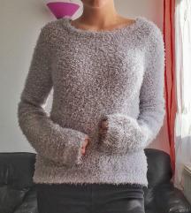 Puha pasztel hosszú ujjú pulóver