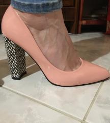 Púder rózsaszín kívül belül bőr 38 cipő
