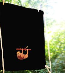 Új, lajhár mintás cuki hímzett tornazsák gymbag