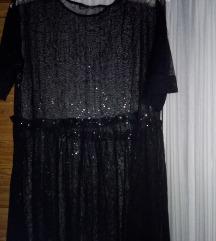 Zara hosszú tüll ruha csillámos