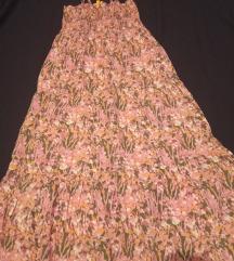 Virágos pamut maxi ruha