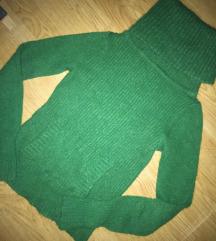 MANGO zöld mohair pulcsi S/M