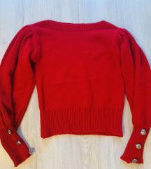 Buggyos ujjú kötött pulóver