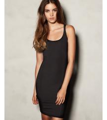 KERESEM Fekete trikó nyári szűk ruha tunika