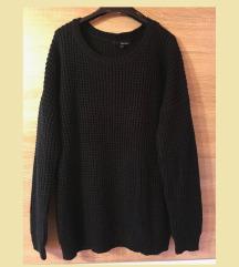 TALLY WEIJL-Fekete kötött pulcsi (M/L)