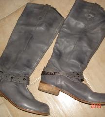 SPM shoes  szürke vajpuha szegecses bőrcsizma,39