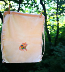 Új, hippi malac színes hímzett tornazsák gymbag