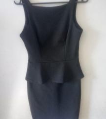Fekete alkalmi peplum ruha