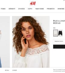 H&M gyönyörű csipkés felső, XS