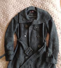 Csillámos fekete szövet kabát