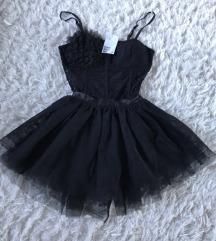 H&M fekete csipkés tüll női balerina ruha jelmez