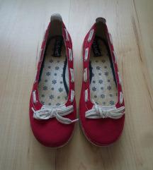 Piros, masnis Humanic  balerina cipő