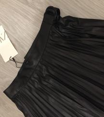 Zara pliszírozott műbőr szoknya