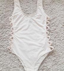 Missguided fehér fürdőruha, body