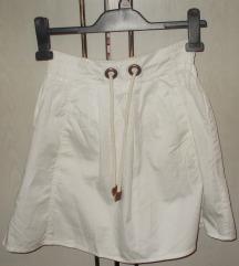 ZARA megkötős fehér szoknya, újszerű