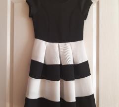 Fekete, fehér alkalmi ruha
