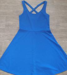 Kék H&M ruha hátul keresztpánttal
