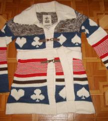 Uniform Új norvégmintás kardigán S-es
