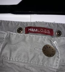 Khaki, magas derekú H&M szonya