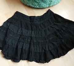Fekete lolita szoknya, rakottszoknya