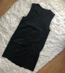 Tezenis bőrbetétes fekete kisruha