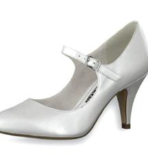 Tamaris fehér menyasszonyi/alkalmi cipő