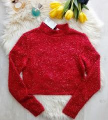 Címkés H&M emelt nyakú csillogós pulóver S