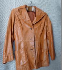 Különleges okker-orange bőrkabát