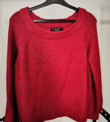 New Yorker kötött pulóver meggypiros S-M-L