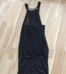 Fekete láncos miniruha s-m alkalmi ruha