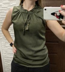 Ujjatlan khaki bluz