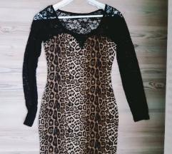 Leopárd  csipkés ruha