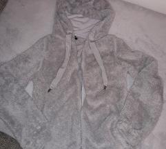 House szürke puha maci füles kapucnis pulcsi
