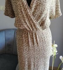 Drapp mintás nyári ruha midi