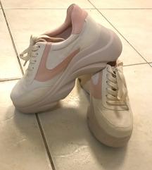Platform púder cipő