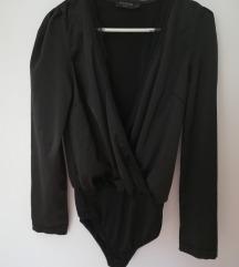 Fekete szatén body In Vogue Paris