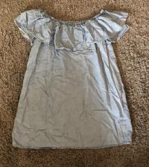 Zara váll nélküli farmer ruha