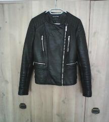 Fekete műbőr motoros dzseki